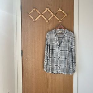 ANTHRO Cloth and Stone Plaid Swing Tunic
